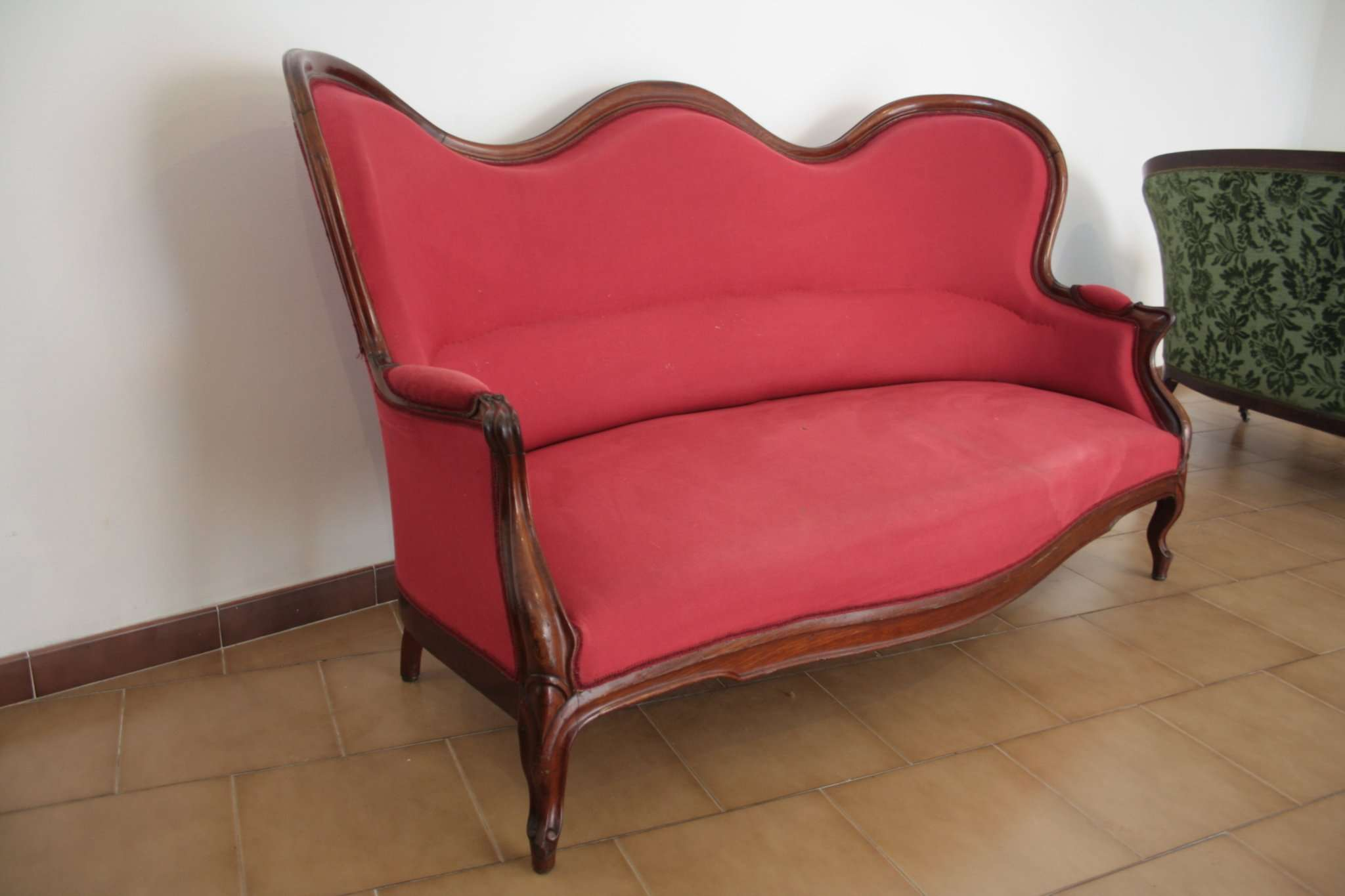 Walnut Red Sofa 1830
