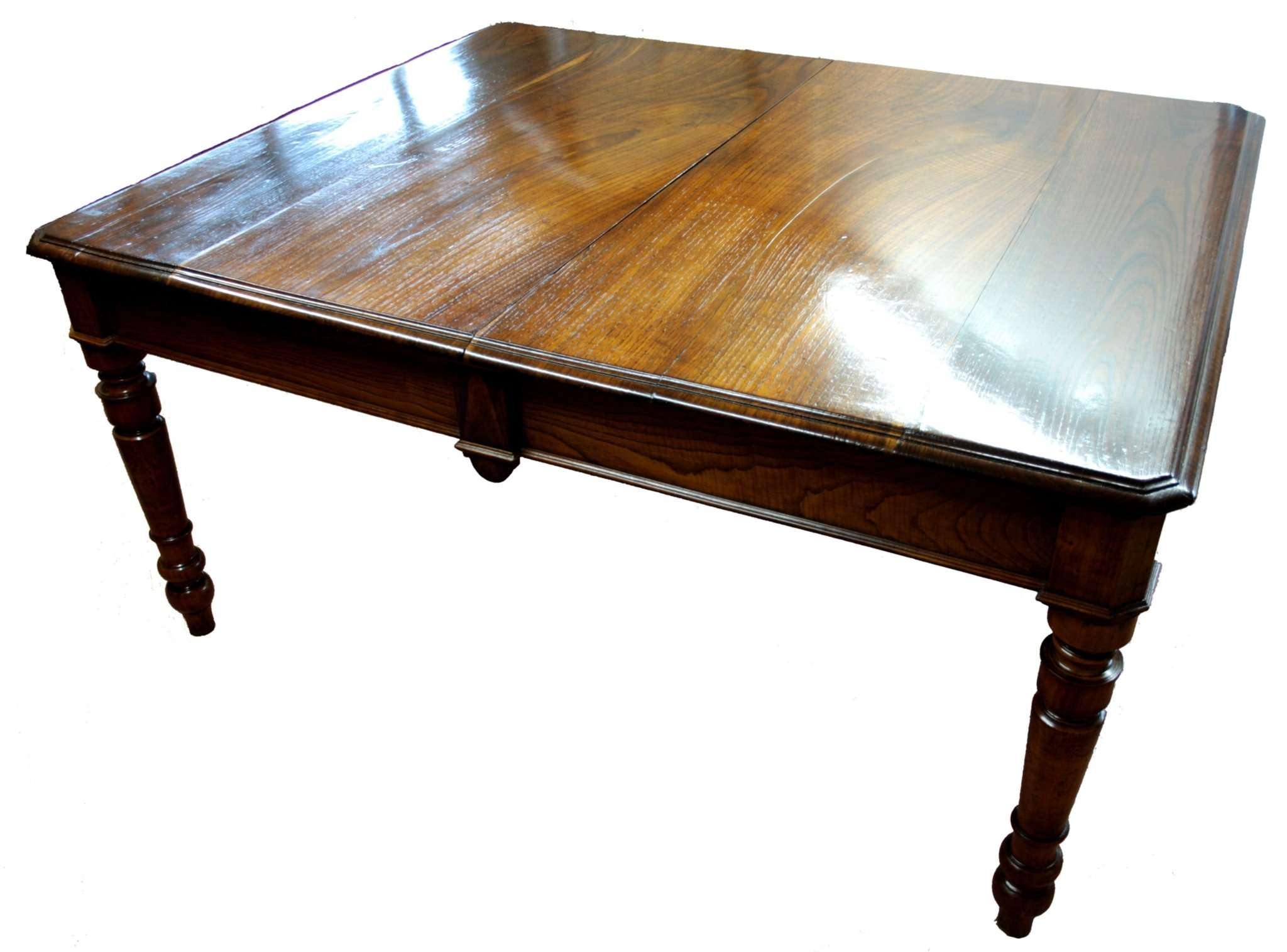 dining table made in 1800 restored cherry and chestnut wood extendable 3 meters restauriraia. Black Bedroom Furniture Sets. Home Design Ideas